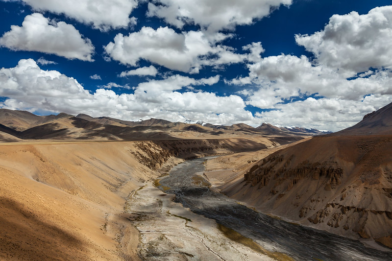 Himalayan landscape. More plains, Ladakh, India