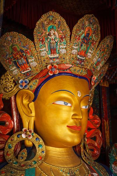 Maitreya Buddha in Thiksey Gompa, Ladakh