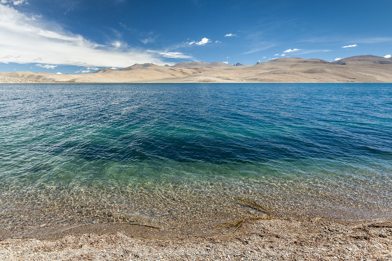 Tso Moriri lake in Himalayas, Ladakh, India