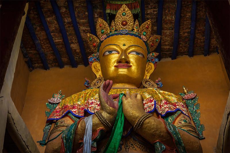 Maitreya Buddha in Tsemo gompa. Leh, Ladakh, India