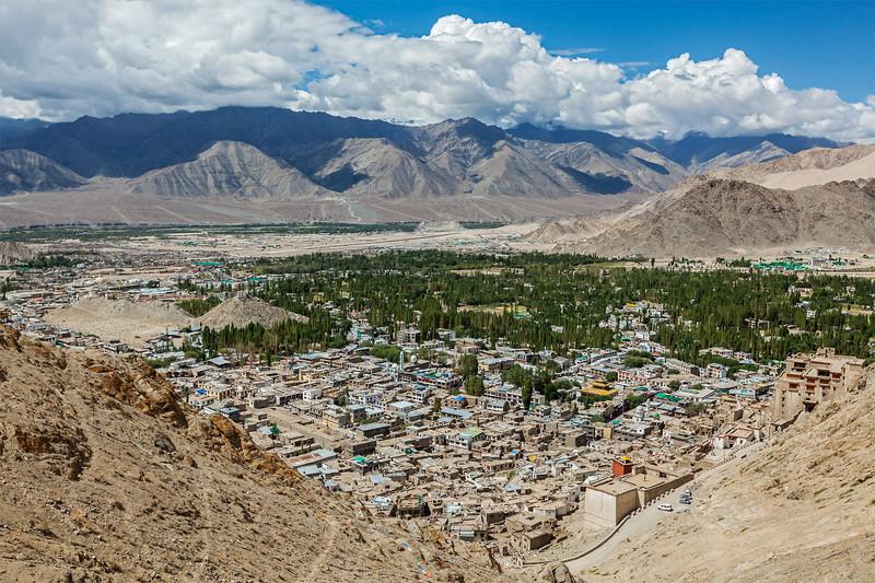 Aerial view of Leh. Ladakh, India