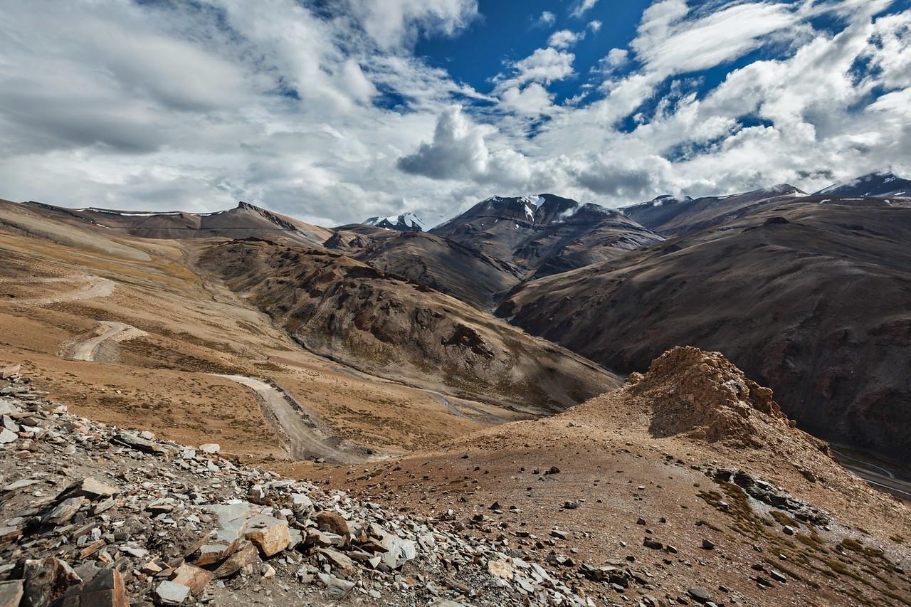 Himalayan landscape near Tanglang-La pass. Ladakh, India