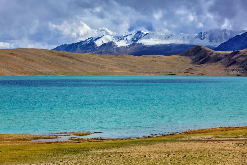 Himalayan lake Kyagar  Tso. Ladakh, Ladakh