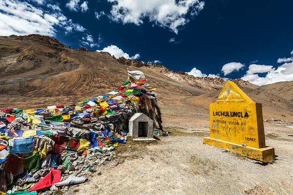 On top of Lachulung La Pass, Ladakh