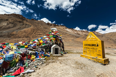On top of Lachulung La Pass, Ladakh