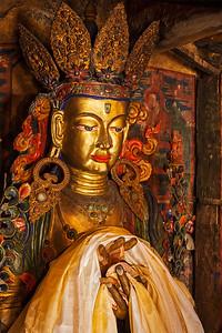 Maitreya Buddha in  Thiksey Monastery. Ladakh, India