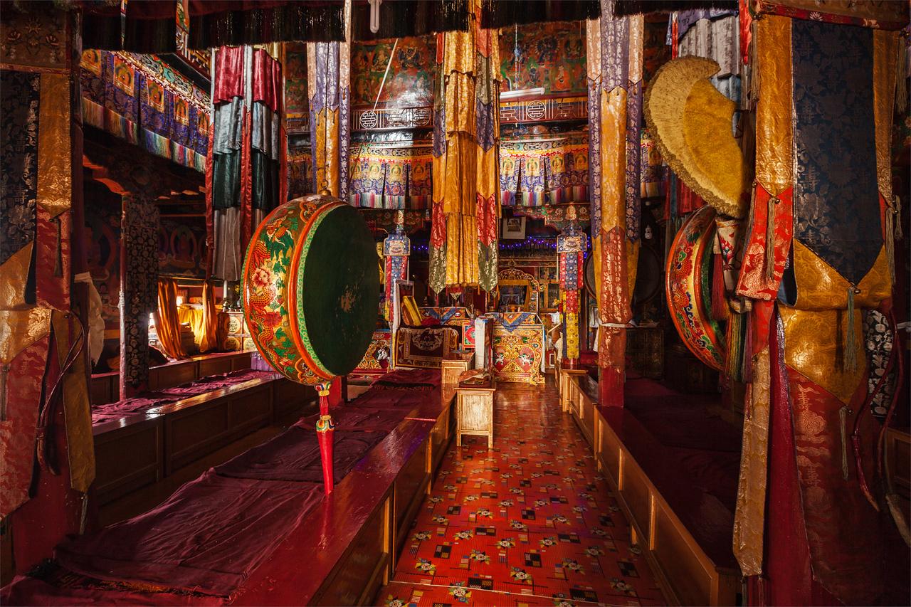 Insude Tibetan monastery. Spituk gompa, Ladakh, India