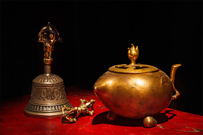 Tibetan Buddhist still life