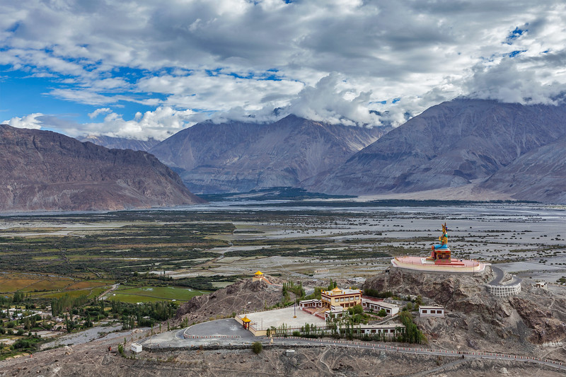 Maitreya Buddha statue  in Diskit gompa in Nubra valley, Ladakh, India