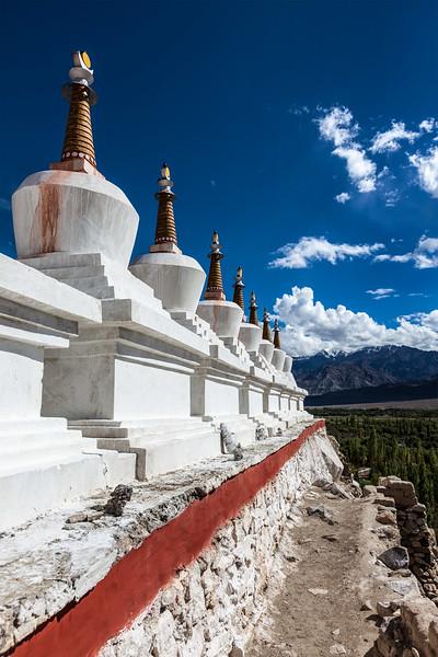Chortens (stupas), Ladakh, India