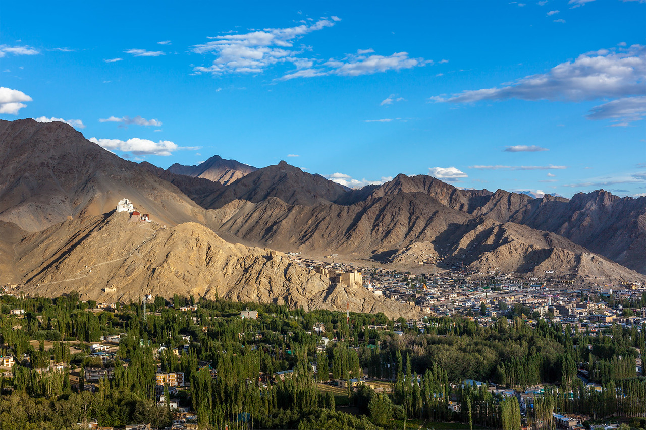 View of Leh. Ladah, India