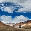 Indian lorry on Trans-Himalayan Manali-Leh highway in Himalayas. Ladakh, India