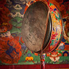 Gong (drum) in Spituk monastery. Ladadkh, India