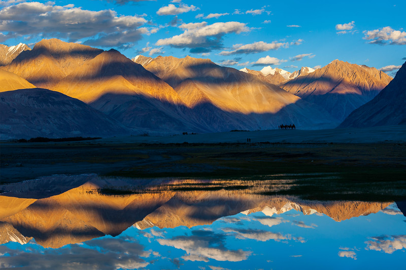 Himalayas on sunset, Ladakh, India