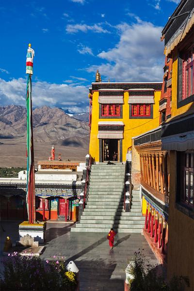 Thiksey gompa (Buddhist monastery), Ladakh, India