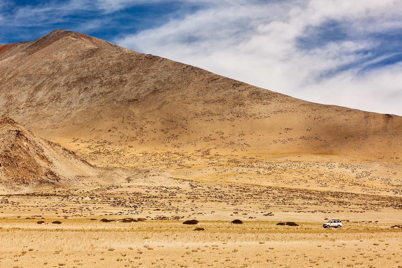 Car in Himalayas, Ladakh