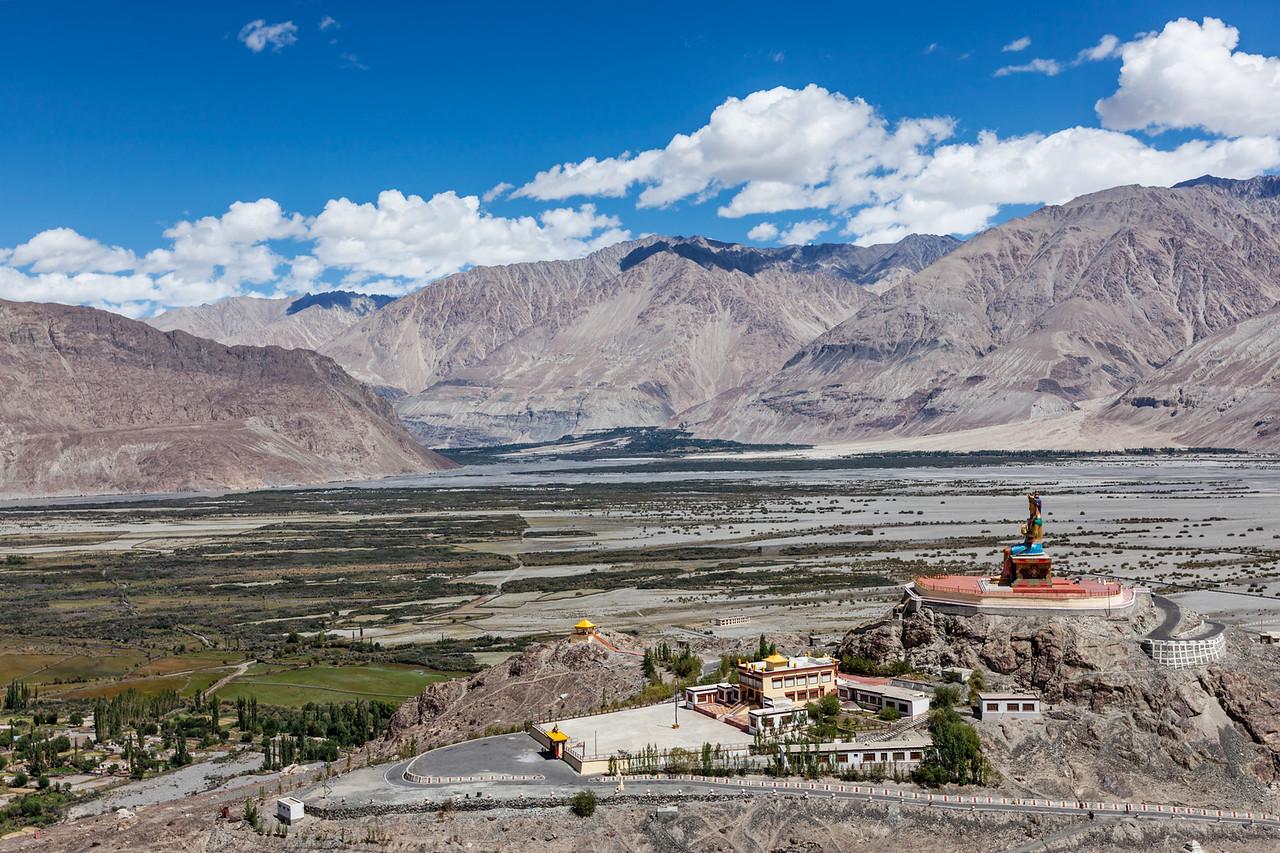 Maitreya Buddha statue  in Diskit gompa in Nubra valley, Ladakh, India