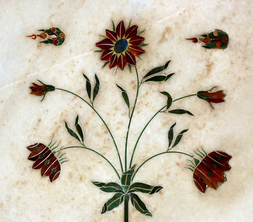 Marble Inlay Work in the Red Fort in Delhi