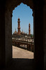View of the Asfi Mosque from Bara Imambara's labyrinth