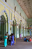Inside the inner courtyard of Bara Imambara