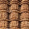 Famous stone carving sculptures, Kandariya Mahadev Temple, Khajuraho, India. Unesco World Heritage Site
