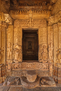 Inner view of Adinath temple, Khajuraho, India