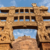 Gateway decoration Great Stupa. Sanchi, Madhya Pradesh, India
