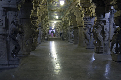 "The legendary ""Thousand Pillared Hall"" of Madurai. Not sure why they named it that."