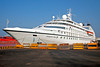 Seabourn Pride in Mangalore, India harbor