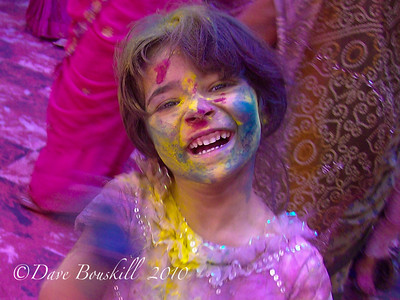 Holi Festival in Mathura, India