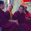 "Tibetan monks enjoy a laugh over a candid conversation in Mcleod Ganj, India.  This is a travel photo from Mcleod Ganj, India. <a href=""http://nomadicsamuel.com"">http://nomadicsamuel.com</a>"