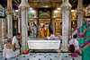 Worshipers at a Jain Temple in Mumbai, India.