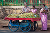 Vendor selling fruit along the road in Mumbai.