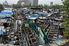 View of the Dhobi ghat, Mumbai, India