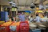 Market stall selling flowers for the Ganesha Festival, Mumbai, India