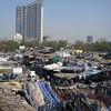 Dhobi ghat, with skyscraper