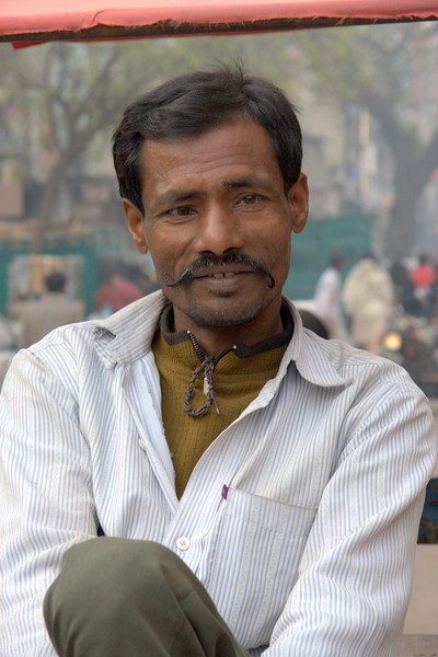 bicycle driver, in the Paharganj area, New Delhi