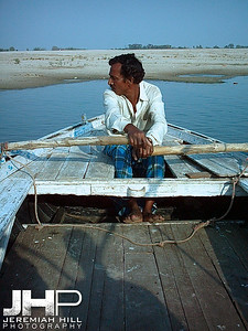 """The Boatman"", along the Ganga at Varanasi, Uttar Pradesh, India, 2005 Print INDIA8-31V2"