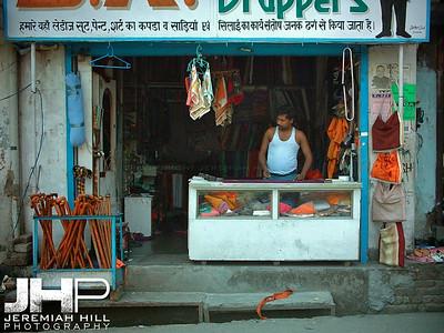 """Bag Shop"", Rishikesh, Uttaranchal, India, 2005 Print INDIA11-88V3"