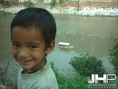 """Boy On The Banks of the Ganga"", Rishikesh, Uttaranchal, India, 2005 Print INDIA11-43"