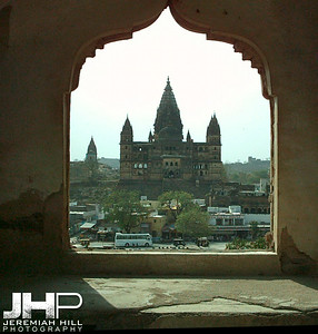 """Penetrations"", Palace Window, Orchha, Madhya Pradesh, India, 2005 Print INDIA8-242V2"
