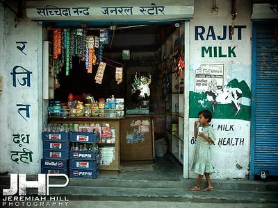 """""""Milk Girl"""", Rishikesh, Uttaranchal, India, 2005 Print INDIA11-78"""