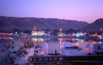 Pushkar lake. I like the guy staring out from bottom center.