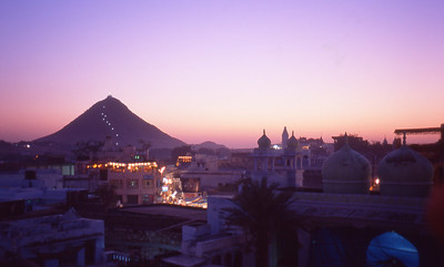 Temple overlooking Pushkar
