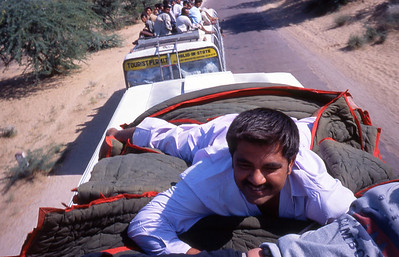 Taking the cheap seats to Pushkar for the camel fair.