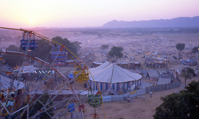 Circus tents at Pushkar. If you've never been to an Indian circus you really should check it out. Reminds me a lot of David Lettermen's stupid human tricks, very entertaining.