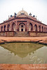 Humayun's Tomb from the side with reflecting pond