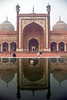 Reflections in pool at Jama Masjid Mosque