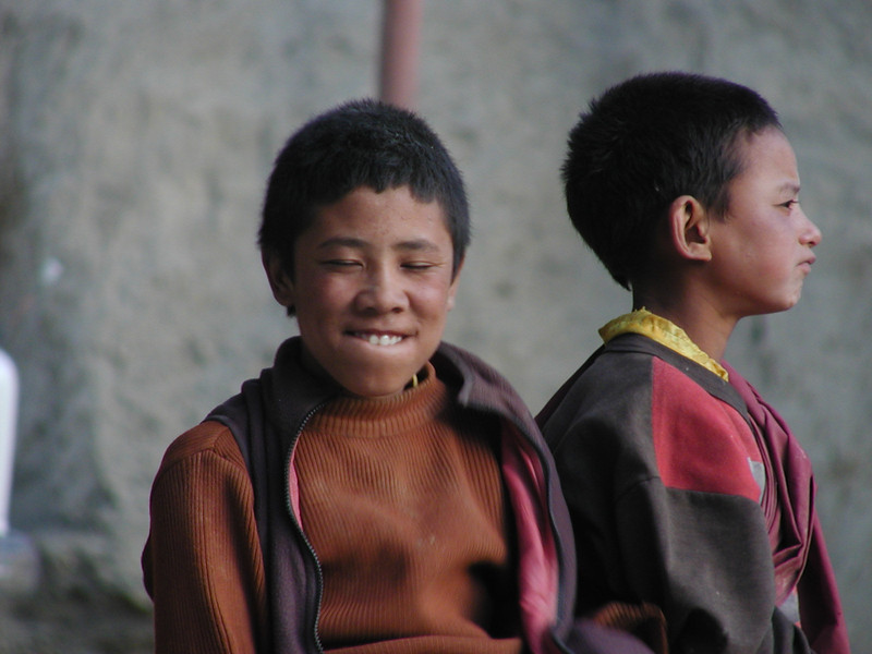 This is a slice of life of young Buddhist monks in training from Ladakh - Himalayan region in Kashmir, India. When not engaged in activities related to monastery, these kids are like any other growing up in impoverished regions - they listen to cricket on the radio, play makeshift board games using pebbles and twigs and help out their families with chores.