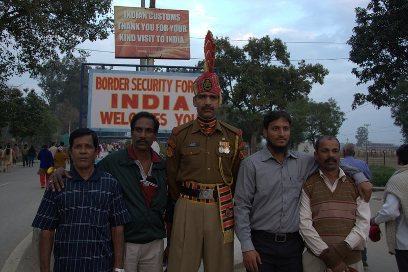 The BSF Ceremony team are all tall men! The Wagah crossing s only about 40mins from Amritsar and great fun. Get there early for the ceremony.